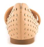 Ботинки новых женщин цвета типа бежевых плоские удобные с стержнями (YF-21)