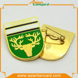 Значок логоса конструкции клиента с золотом плакировкой