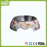 Tazón de fuente personalizado del animal doméstico de la melamina, producto del animal doméstico