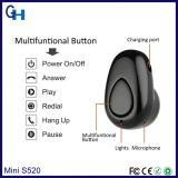 Супер миниый микро- стерео HiFi поистине беспроволочный наушник одиночное Bluetooth Earbuds