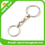 Preço do uso fácil de Keychain do metal do anel dois chave o mais baixo
