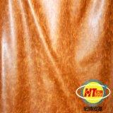 Couro Waxy de Microfiber do petróleo para o Upholstery do sofá (1605#)
