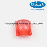 Detergente líquido concentrado rojo de la vaina de ODM&OEM 10g, bolsa del lavadero