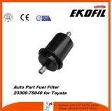 OEM del filtro de combustible de la pieza de automóvil 23300-75040 para Toyata