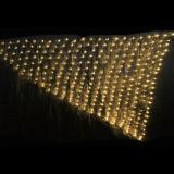 1.5X1.5m 별이 빛나는 밤 정원 LED 크리스마스 백색 색깔 그물 빛