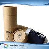 Caisse d'emballage cosmétique de empaquetage de papier de vêtements d'habillement de cadeau de tube (xc-ptp-022)