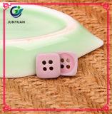 Bouton coloré carré de bouton de couche d'enfant de bouton de résine