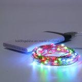 Декор USB 10 m СИД освещает венчание цвета светильников шнура венчания празднества Multi