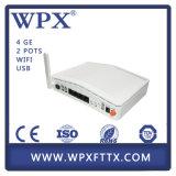 Modem da fibra ONU Gpon do Ge Gpon Ontário de FTTX 4 com WiFi VoIP