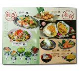 Impression faite sur commande polychrome de menu de restaurants