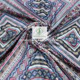 Scialle geometrico di retro della stampa stile piega di ED con la sciarpa di modo della nappa