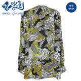 Vestir flojo de las mujeres de la blusa de las señoras de Fshion del botón largo multicolor de la funda