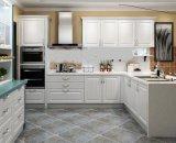カスタマイズされた反Scartchの白い木製の台所食器棚(多くのカラー)