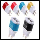 Bunte doppelte Verschluss-Stopfen-Öffnung USB-Aufladeeinheit für Handy