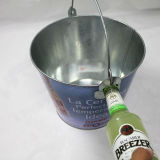 Position de refroidisseur de bière de bidon de glace en métal de couleur verte