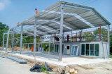La gasolinera industrial de la fábrica/del almacén/del puente/de los proyectos de la construcción de edificios del metal diseña la estructura de acero pesada prefabricada