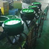 セリウムのRoHS防水18X18W RGBWA+UVの同価はLEDの屋外の照明できる
