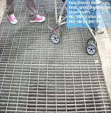 Reja de acero galvanizada del dren del foso para el suelo