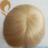 Universal Light Blond Color Virgin Remy Hair Replacement