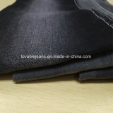 Tessuto nero del denim dalle 10 once (T135)