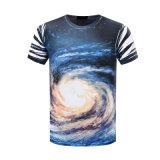 A impressão 3D desproporcionado do costume 95%Cotton /5 Elastane ostenta o t-shirt