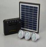 منتجات جديدة نظام الطاقة الشمسية المحمولة مع الصمام الخفيفة 3W 9V المحمولة الشمسية مروحة ونظام الإضاءة