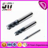 Dígitos binarios cónicos del ranurador del carburo 2 de Jinoo de las flautas de la nariz sólida micro de la bola para la madera