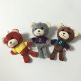 Brinquedo enchido macio de Keychain do presente do luxuoso do urso do número do bebê