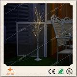 árvore de vidoeiro clara do diodo emissor de luz de 24L 60cm a pilhas para a decoração do feriado