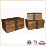 Чемодан сбор винограда естественный деревянный/декоративная коробка для хранения