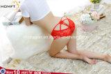 Las mujeres atractivas ahuecan hacia fuera los calzoncillos transparentes de la cintura del cordón de las señoras inferiores de las bragas