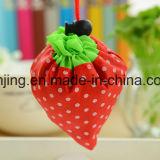 Sacs à provisions pliables de cadeau de sac de fraise réutilisable du nylon Bw1-080/polyester