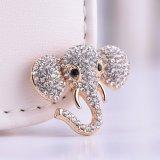 [رهينستون] فيل نمو مجوهرات دبوس الزينة