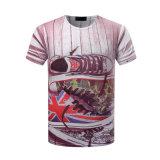 L'impression 3D surdimensionnée de la coutume 95%Cotton /5 Elastane folâtre le T-shirt