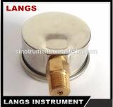 016 presión llenada líquido interno de cobre amarillo Gauge300