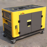 Début de clé de câblage cuivre de bison (Chine) BS12000t 10kw prix diesel silencieux portatif du générateur 10kVA de garantie de 1 an en meilleure vente