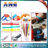 Wristband tecido RFID do bracelete da impressão de Cmyk para o concerto