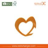Gancho Shaped dos Scarves de veludo do coração bonito para o indicador
