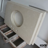 Bancada de pedra artificial de superfície contínua moderna do banheiro e da cozinha