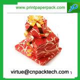 Mode-schöner empfindlicher kundenspezifischer Farbband-Papier-Pappgeschenk-Kasten mit Customed Formen