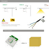 lámpara del techo de la luz 80ra 280lm LED de la cabina de Dimmable LED de la MAZORCA 3W