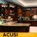 Het nieuwe Meubilair van de Keuken van de Keukenkast van Noord-Amerika van de Stijl van U van de Premie In het groot Rode Eiken Stevige Houten (ACS2-W25)