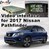 Video interfaccia dell'automobile per Nissan Pathfinder 2017, la parte posteriore Android di percorso ed il panorama 360 facoltativi