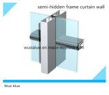 Mur rideau de bâti en aluminium