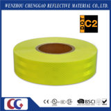 Cinta amonestadora reflexiva fluorescente del verde amarillo para el autobús escolar (C5700-OF)