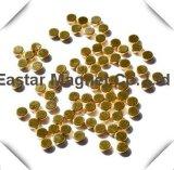 Magneet van het Neodymium van de Vorm van het gouden Plateren de Uiterst kleine