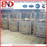 Todo el horno de resistencia eléctrica del hogar del carretón de la fibra para el tratamiento térmico