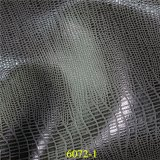 Synthetischer PU-materieller populärer Entwurfs-glänzendes metallisches Form-Zubehör-Leder