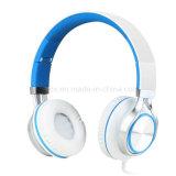 Наушники с микрофоном и встроенным регулятором звука, совершенным звуком с мощным басом, регулируемым, складным шлемофоном для iPhone и Android приспособлениями