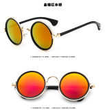 Lunettes de soleil reflétées rondes de sports en plein air de lunetterie de rétro cru de femmes d'hommes